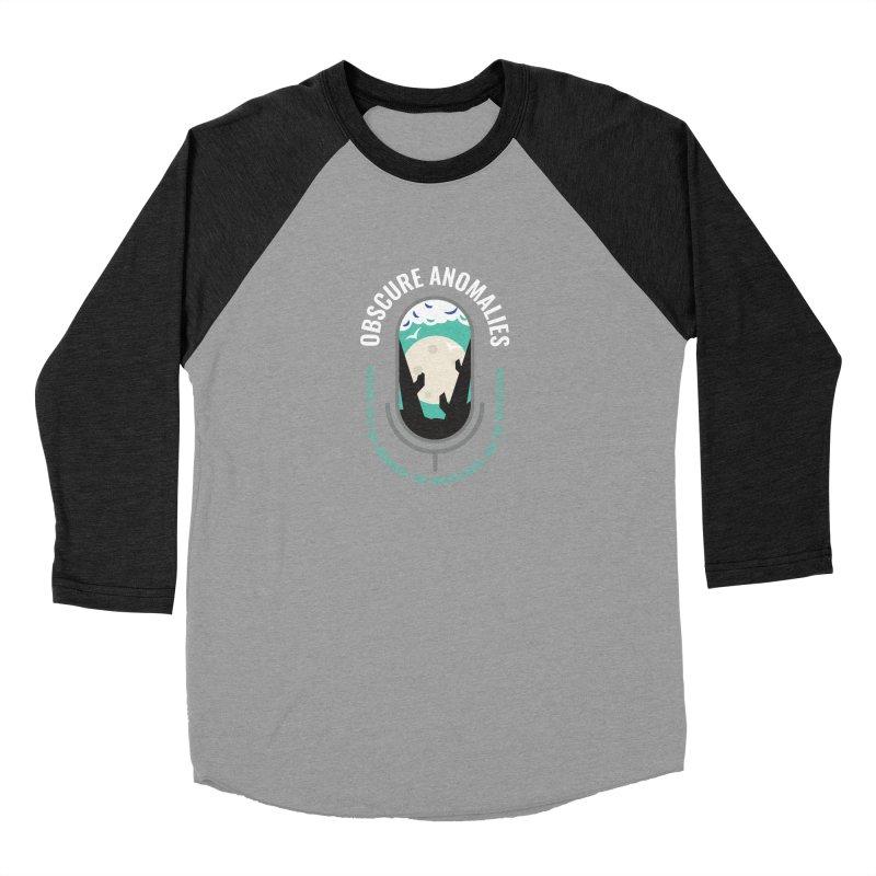 Obscure Anomalies Mic Logo Men's Baseball Triblend Longsleeve T-Shirt by obscureanomalies's Artist Shop