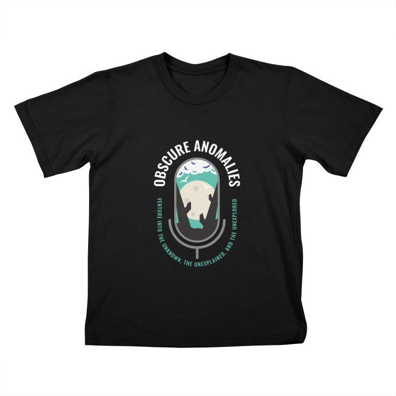 Obscure Anomalies Mic Logo Kids T-Shirt by obscureanomalies's Artist Shop
