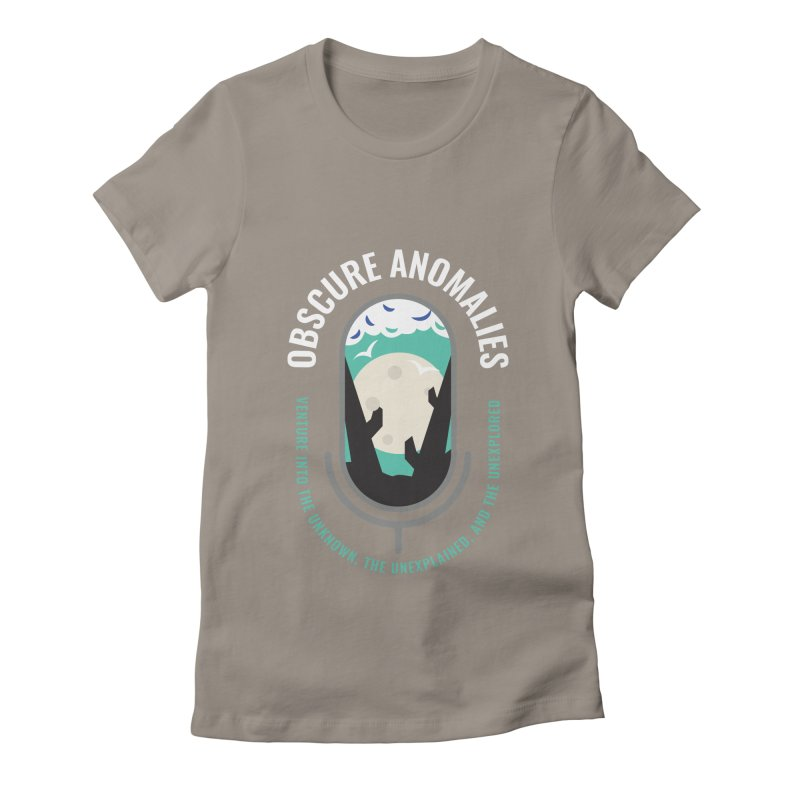 Obscure Anomalies Mic Logo Women's Fitted T-Shirt by obscureanomalies's Artist Shop