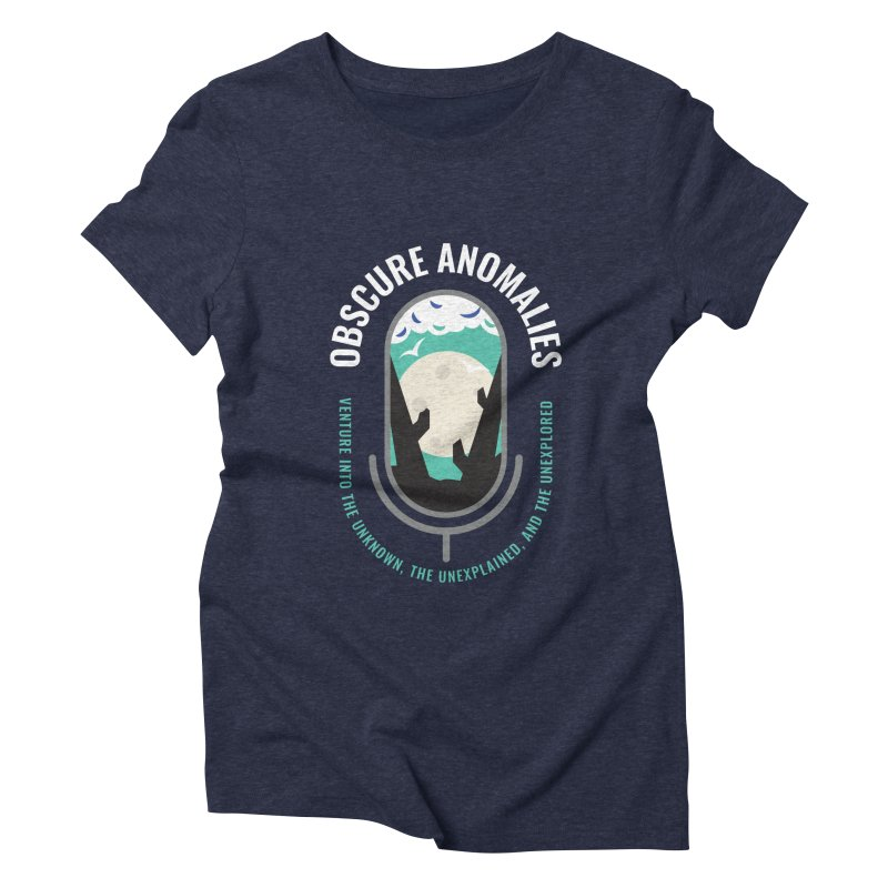 Obscure Anomalies Mic Logo Women's Triblend T-Shirt by obscureanomalies's Artist Shop