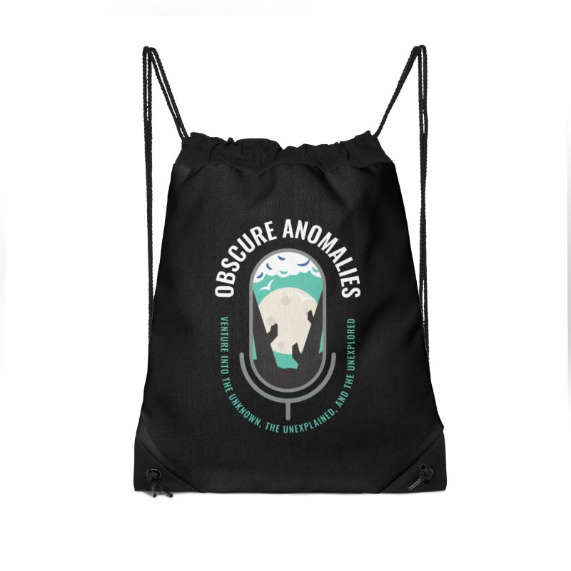Obscure Anomalies Mic Logo Accessories Drawstring Bag Bag by obscureanomalies's Artist Shop