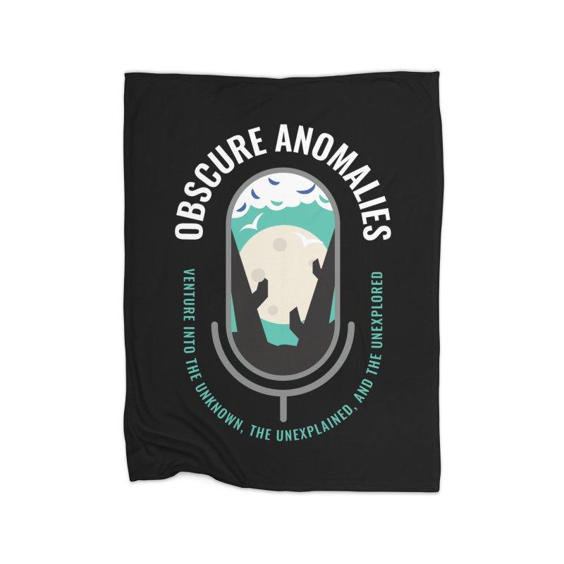 Obscure Anomalies Mic Logo Home Fleece Blanket Blanket by obscureanomalies's Artist Shop