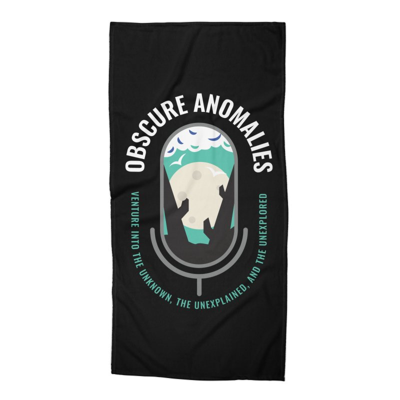 Obscure Anomalies Mic Logo Accessories Beach Towel by obscureanomalies's Artist Shop