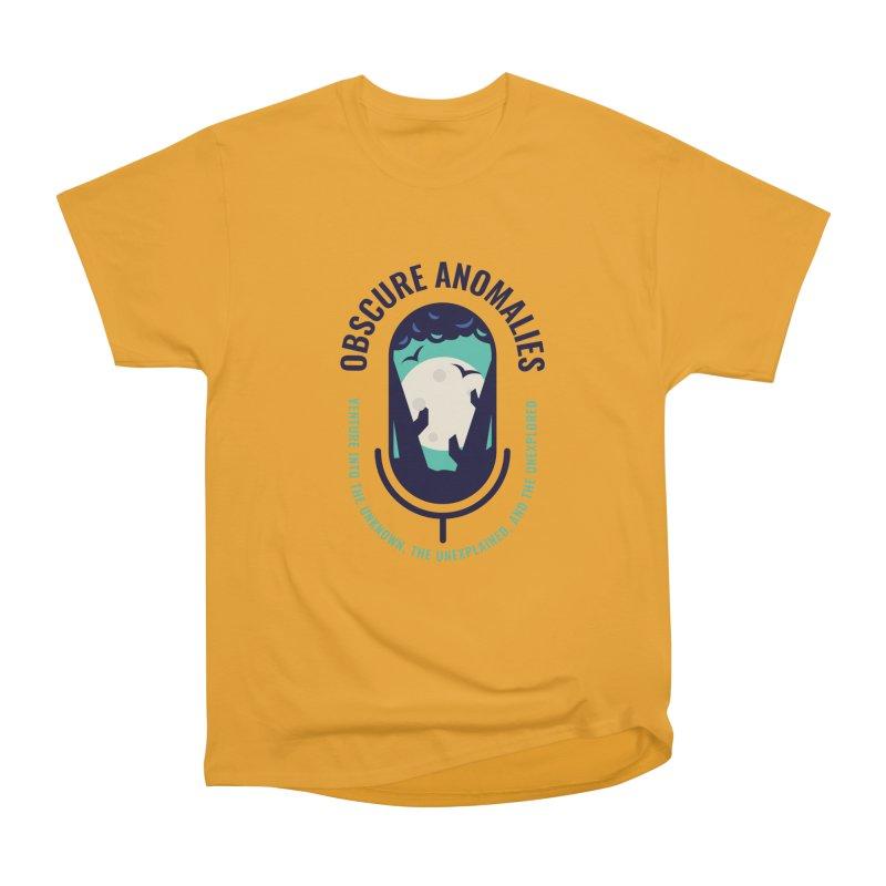 Obscure Anomalies Mic Logo Women's Heavyweight Unisex T-Shirt by obscureanomalies's Artist Shop