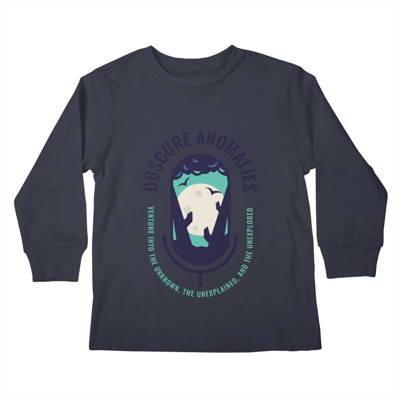 Obscure Anomalies Mic Logo Kids Longsleeve T-Shirt by obscureanomalies's Artist Shop