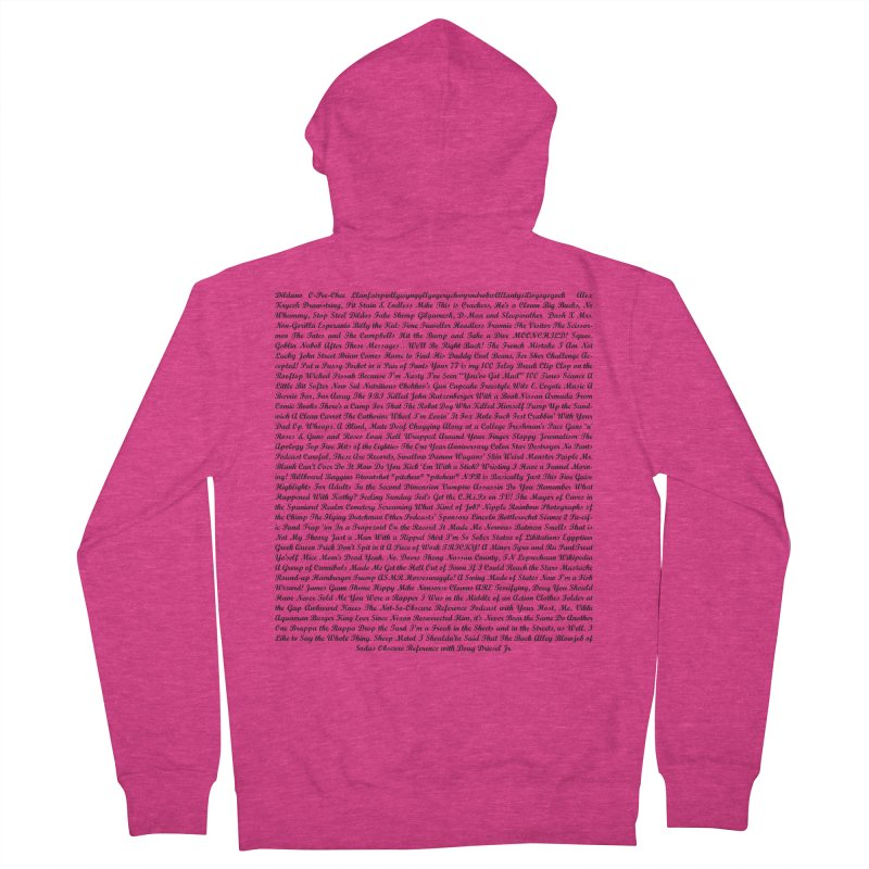 Episode Titles Women's Zip-Up Hoody by obscurereferencepodcast's Artist Shop