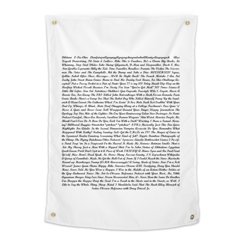 Episode Titles Home Tapestry by obscurereferencepodcast's Artist Shop