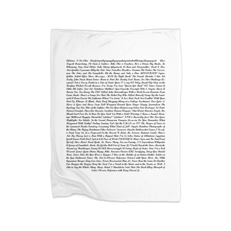 Episode Titles Home Blanket by obscurereferencepodcast's Artist Shop