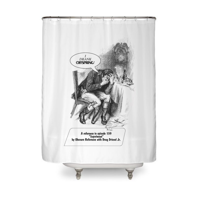 """Episode 139 """"Offspring"""" Home Shower Curtain by obscurereferencepodcast's Artist Shop"""