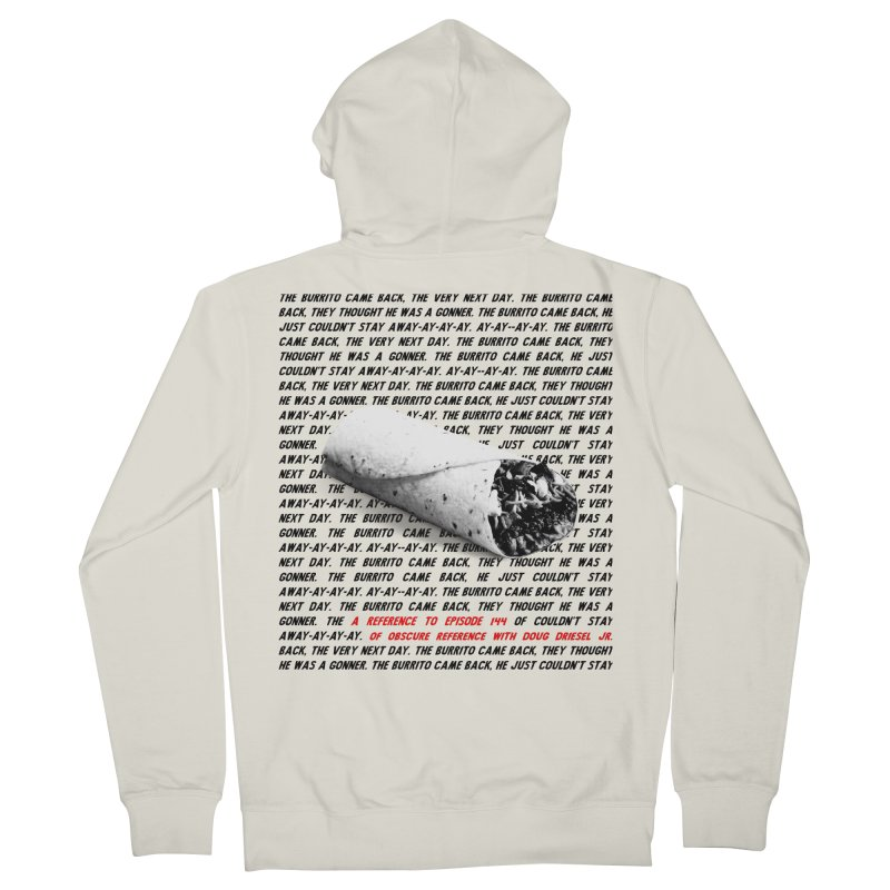 Episode 144 Burrito Shirt Men's Zip-Up Hoody by obscurereferencepodcast's Artist Shop