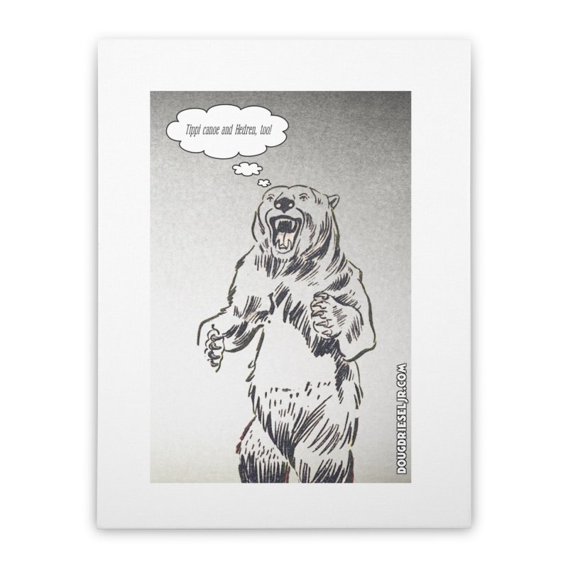 Tippi Bear Home Stretched Canvas by obscurereferencepodcast's Artist Shop