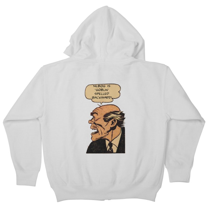 Nilbog Kids Zip-Up Hoody by obscurereferencepodcast's Artist Shop