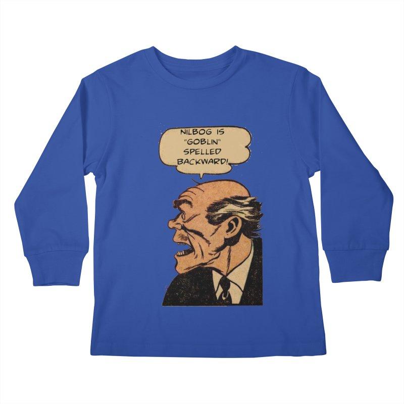 Nilbog Kids Longsleeve T-Shirt by obscurereferencepodcast's Artist Shop