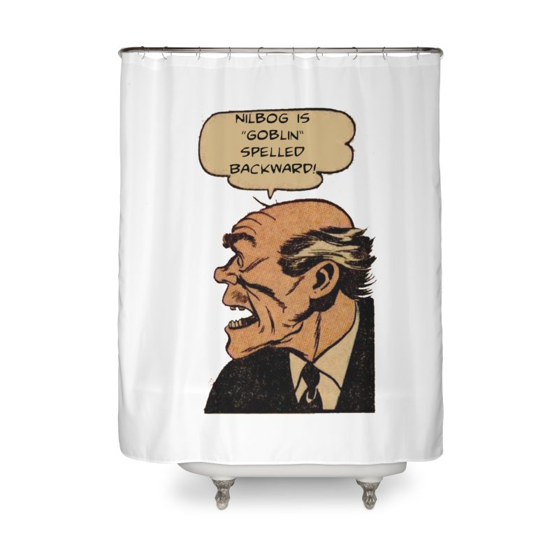 Nilbog Home Shower Curtain by obscurereferencepodcast's Artist Shop