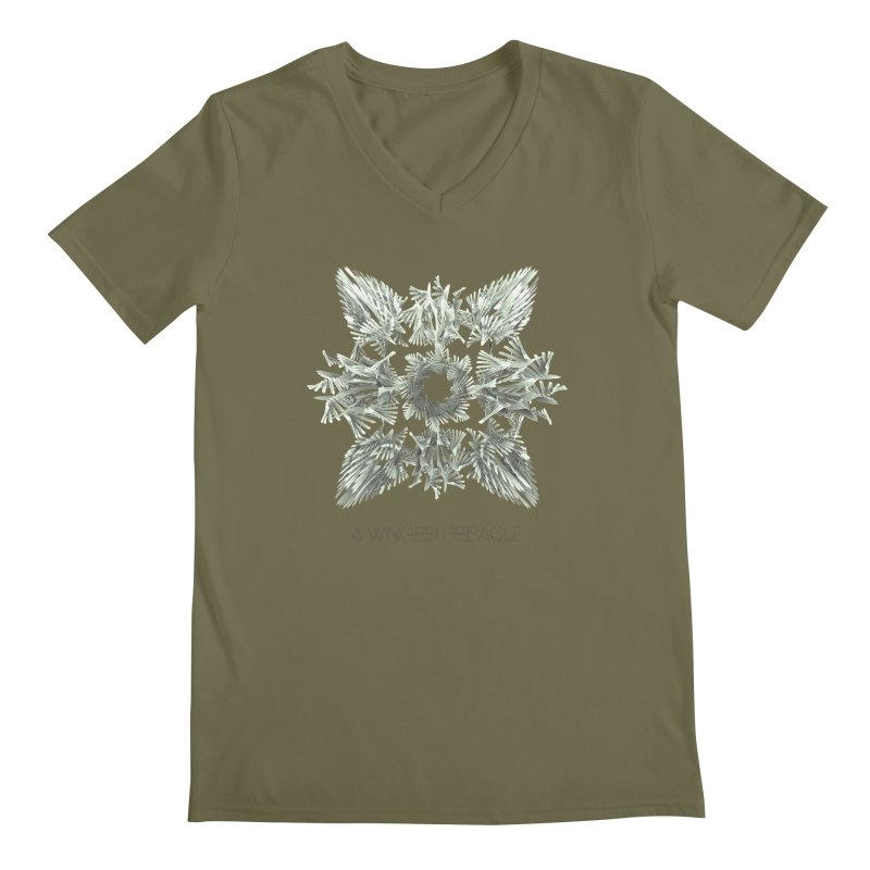 A Winged Debacle Men's V-Neck by Obvious Warrior Artist Shop
