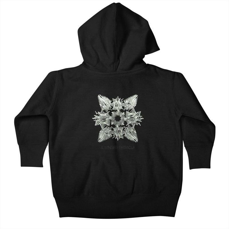 A Winged Debacle Kids Baby Zip-Up Hoody by Obvious Warrior Artist Shop