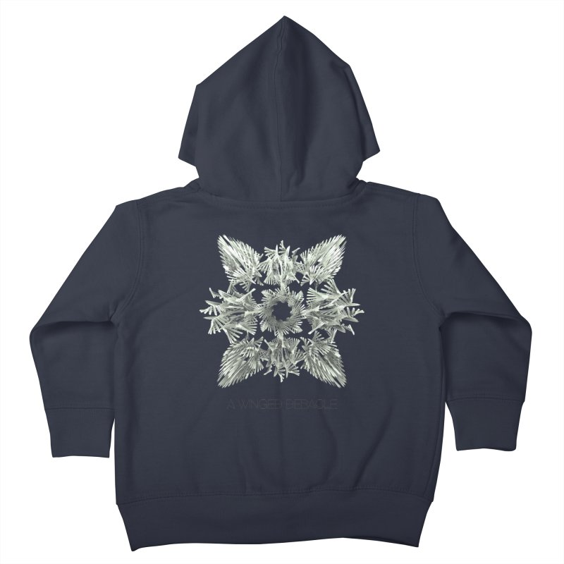 A Winged Debacle Kids Toddler Zip-Up Hoody by Obvious Warrior Artist Shop