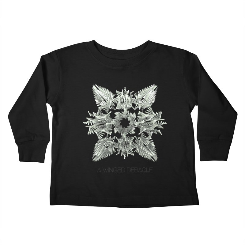 A Winged Debacle Kids Toddler Longsleeve T-Shirt by Obvious Warrior Artist Shop