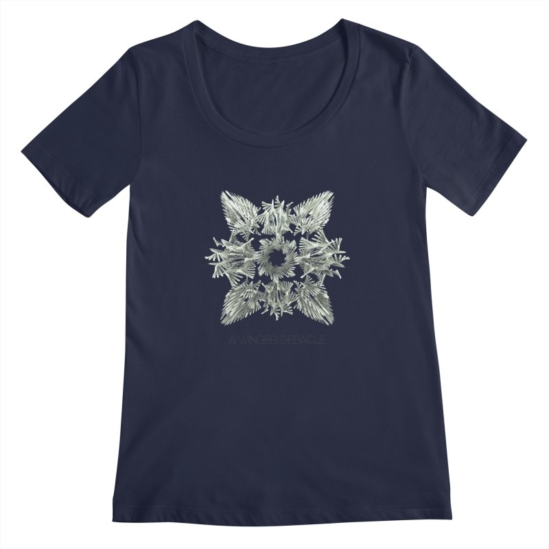 A Winged Debacle Women's Scoopneck by Obvious Warrior Artist Shop