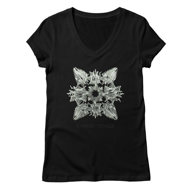 A Winged Debacle Women's V-Neck by Obvious Warrior Artist Shop
