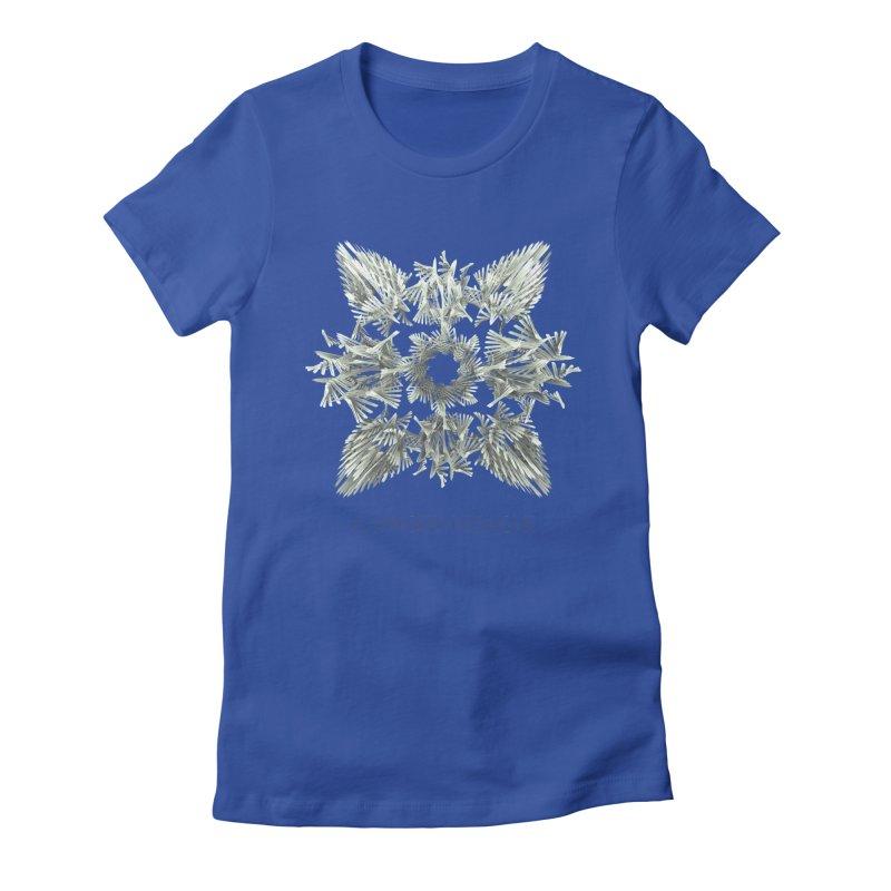 A Winged Debacle Women's Fitted T-Shirt by Obvious Warrior Artist Shop