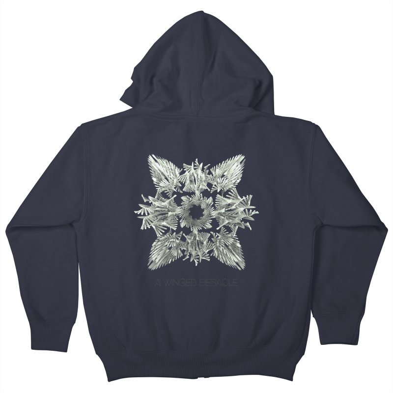 A Winged Debacle Kids Zip-Up Hoody by Obvious Warrior Artist Shop