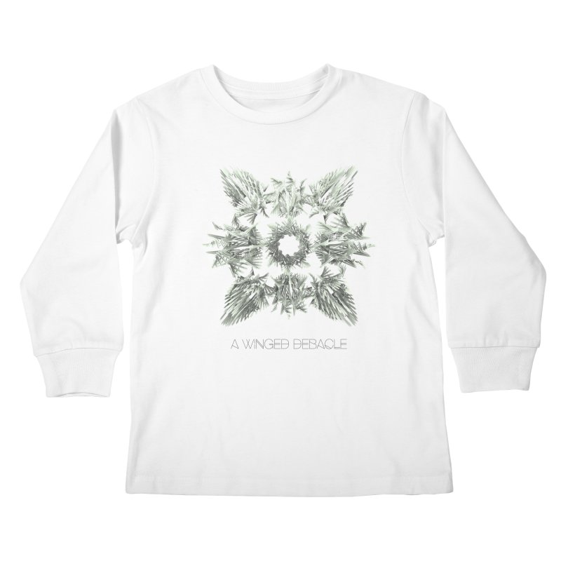 A Winged Debacle Kids Longsleeve T-Shirt by Obvious Warrior Artist Shop