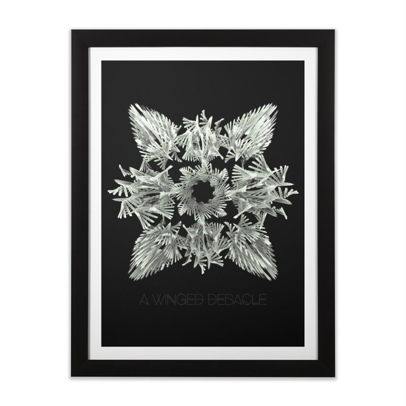 A Winged Debacle Home Framed Fine Art Print by Obvious Warrior Artist Shop