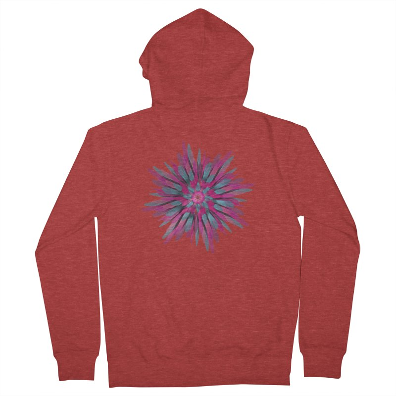 Bloom Men's Zip-Up Hoody by Obvious Warrior Artist Shop