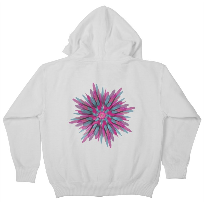 Bloom Kids Zip-Up Hoody by Obvious Warrior Artist Shop