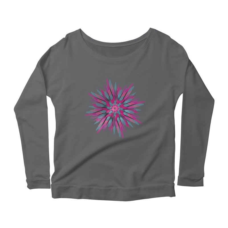 Bloom Women's Longsleeve Scoopneck  by Obvious Warrior Artist Shop