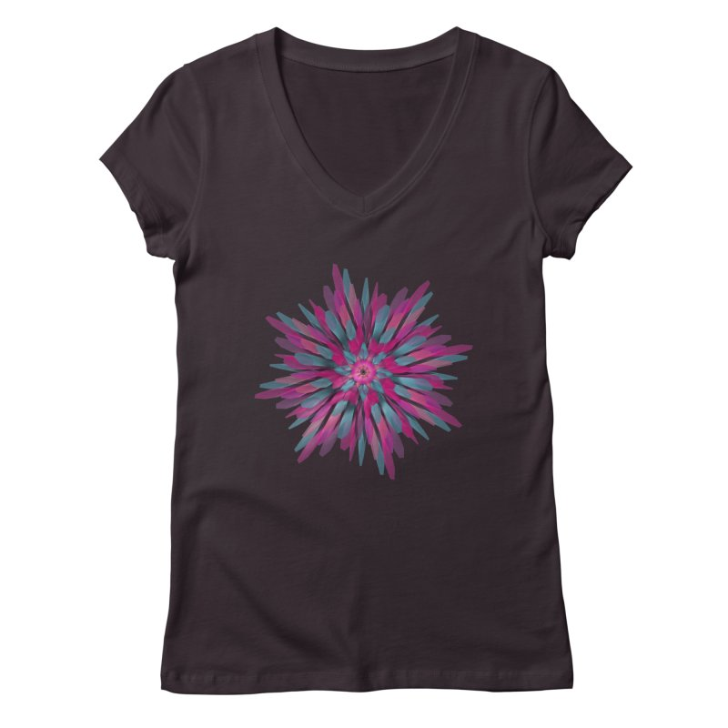 Bloom Women's V-Neck by Obvious Warrior Artist Shop