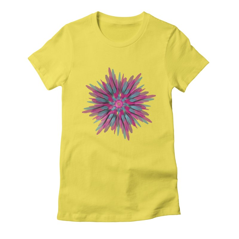 Bloom Women's Fitted T-Shirt by Obvious Warrior Artist Shop