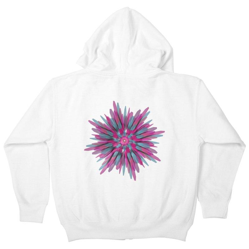 Bloom Kids Zip-Up Hoody by Obvious Warrior Artist Shop