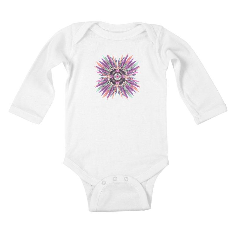 MNFLD Kids Baby Longsleeve Bodysuit by Obvious Warrior Artist Shop