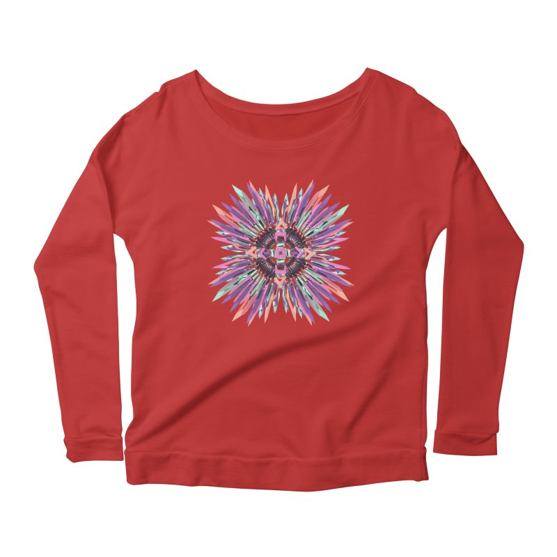 MNFLD Women's Longsleeve Scoopneck  by Obvious Warrior Artist Shop