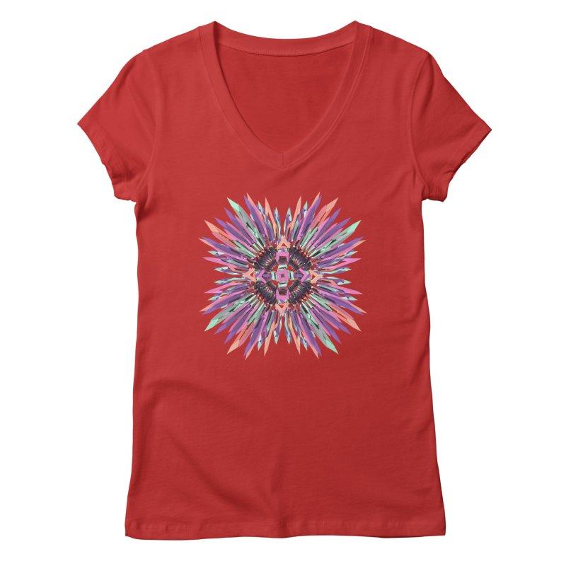 MNFLD Women's V-Neck by Obvious Warrior Artist Shop