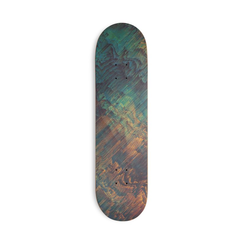 Lunar Topography Accessories Deck Only Skateboard by Obvious Warrior