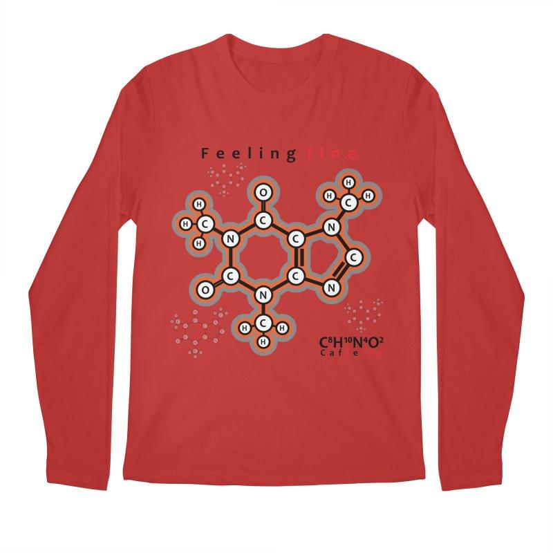 Caffeine - Feeling fine Men's Longsleeve T-Shirt by Oceanrunner's Artist Shop