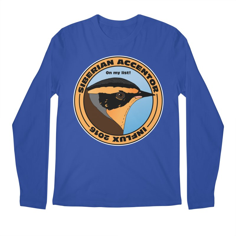 Siberian Accentor - On my list! Men's Longsleeve T-Shirt by Oceanrunner's Artist Shop