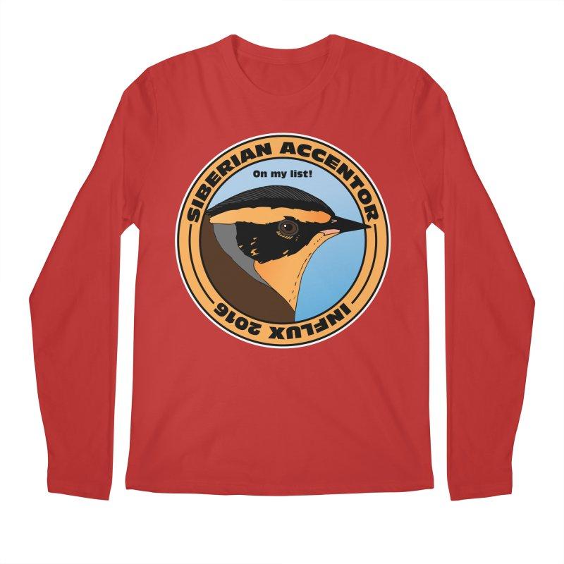 Siberian Accentor - On my list! Men's Longsleeve T-Shirt by Oceanrunner's Artist Shop