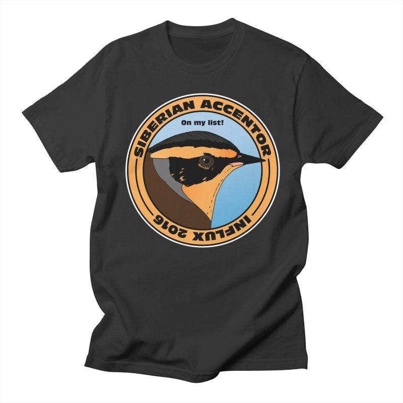 Siberian Accentor - On my list! Men's T-Shirt by Oceanrunner's Artist Shop