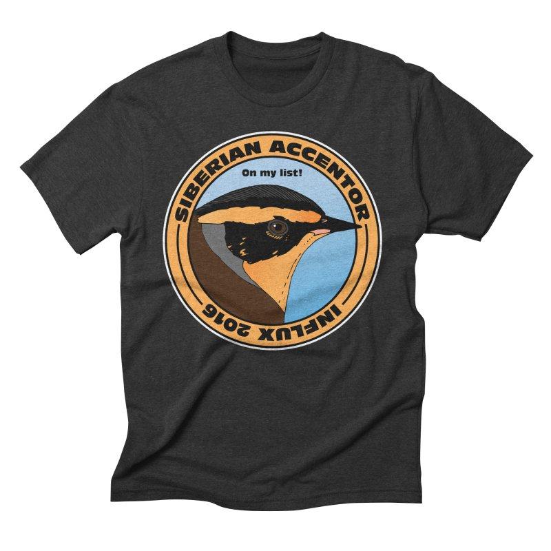 Siberian Accentor - On my list! Men's Triblend T-Shirt by Oceanrunner's Artist Shop