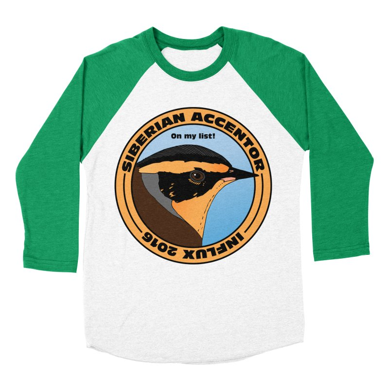 Siberian Accentor - On my list! Women's Baseball Triblend T-Shirt by Oceanrunner's Artist Shop