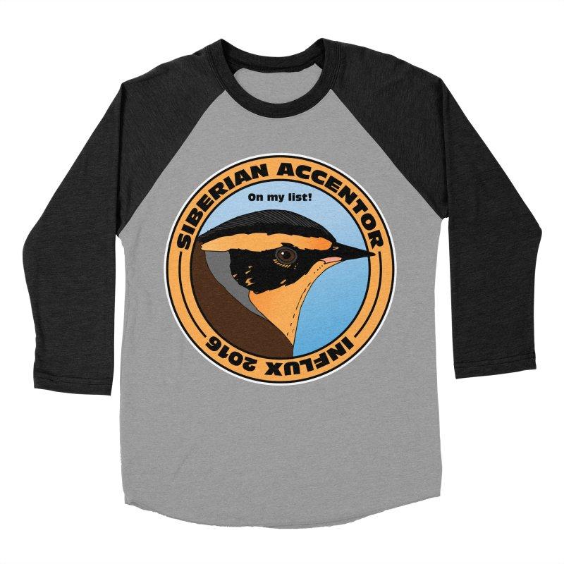 Siberian Accentor - On my list! Men's Baseball Triblend T-Shirt by Oceanrunner's Artist Shop