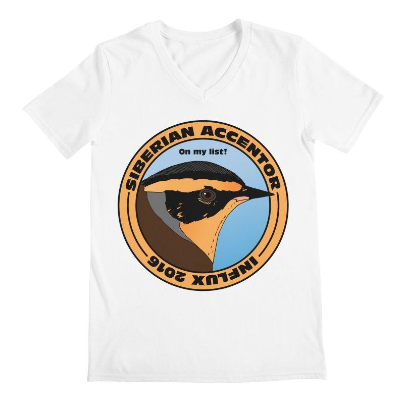 Siberian Accentor - On my list! Men's V-Neck by Oceanrunner's Artist Shop
