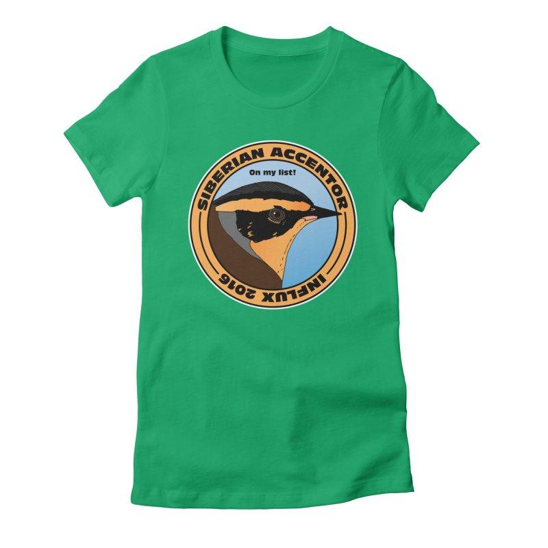 Siberian Accentor - On my list! Women's Fitted T-Shirt by Oceanrunner's Artist Shop