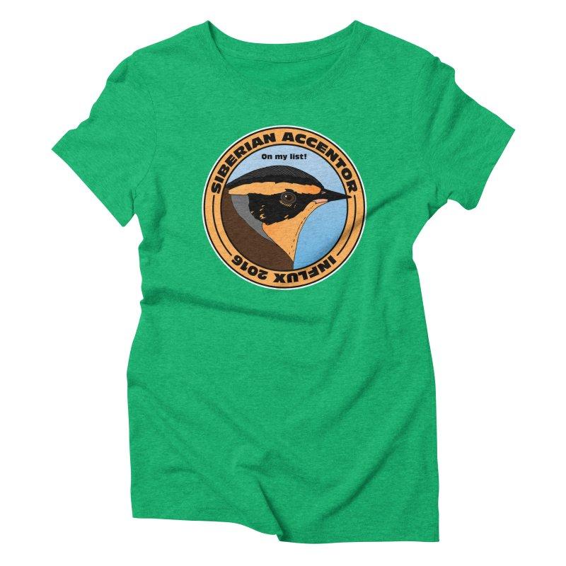Siberian Accentor - On my list! Women's Triblend T-shirt by Oceanrunner's Artist Shop