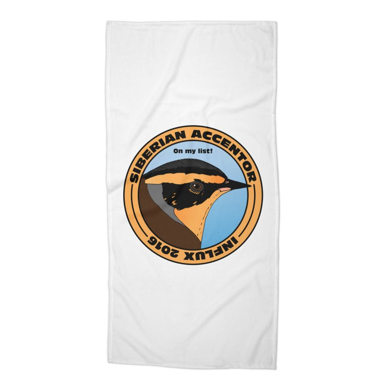 Siberian Accentor - On my list! Accessories Beach Towel by Oceanrunner's Artist Shop