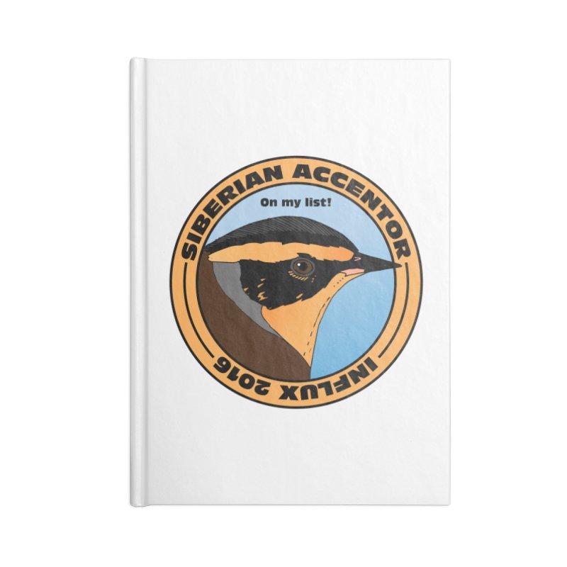 Siberian Accentor - On my list! Accessories Notebook by Oceanrunner's Artist Shop